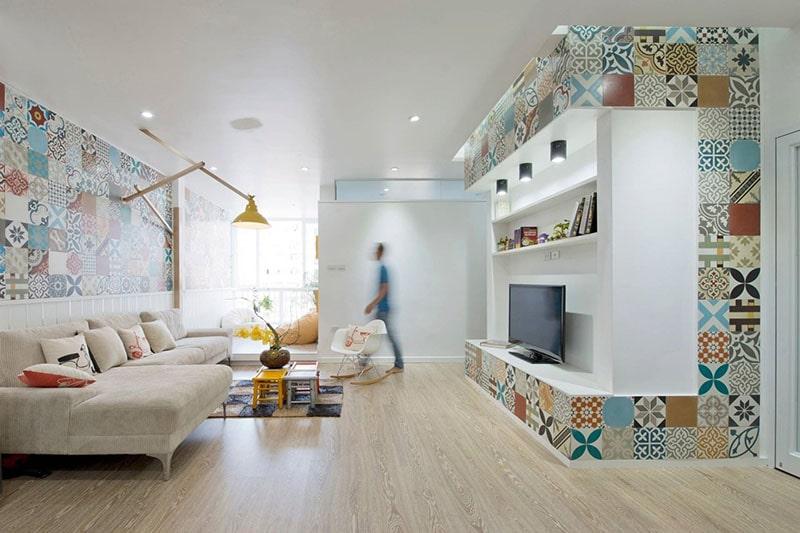 Gạch bông ốp tường đem đến cảm giác tinh tế và thanh nhã