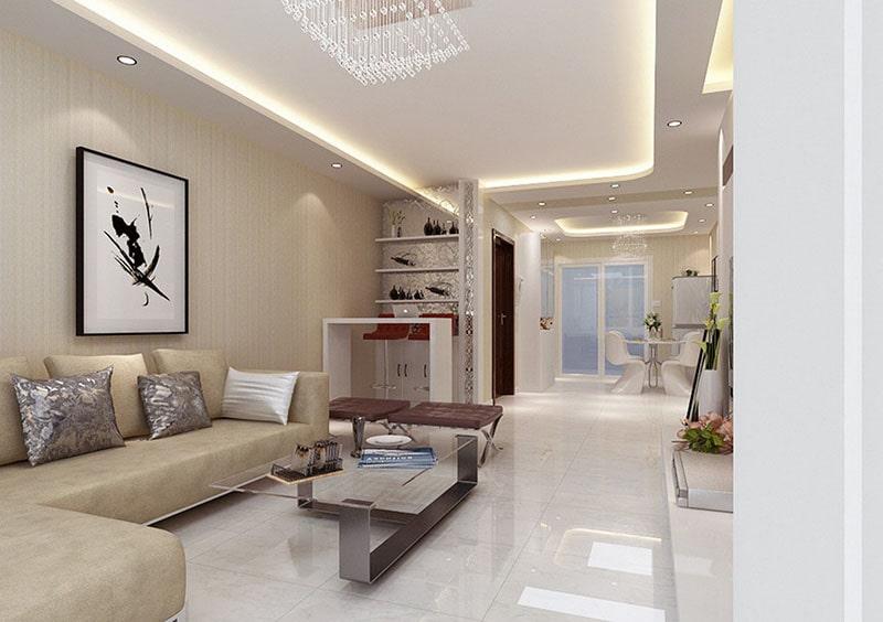 Gạch men ốp tường đem đến cảm giác thanh lịch và hiện đại