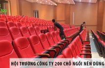 Thiết kế hội trường công ty 200 chỗ ngồi nên dùng ghế gì?