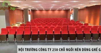 Thiết kế hội trường công ty 250 chỗ ngồi nên dùng ghế gì?