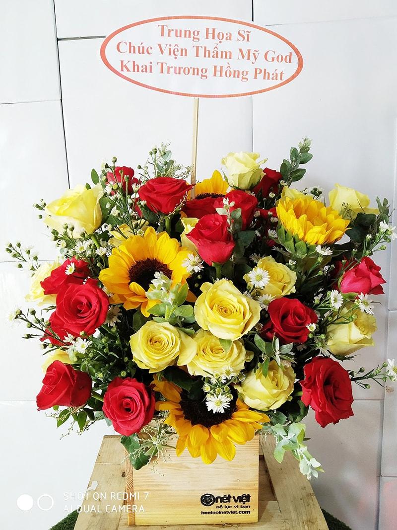 Cắm lẵng hoa cho dịp khai trương, mừng sinh nhật