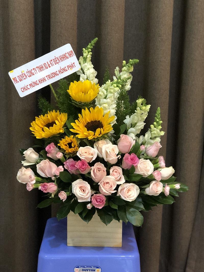 Lẵng hoa phù hợp để mừng khai trương