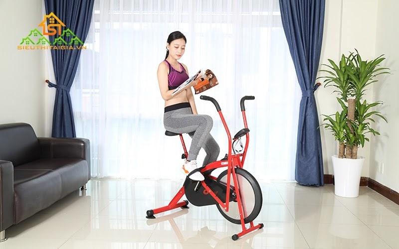 Xe đạp tập hoạt động nhẹ nhàng, phù hợp với người có vấn đề về tim mạch